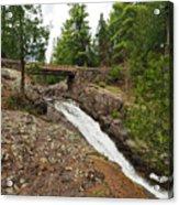 Amity Creek Falls Acrylic Print