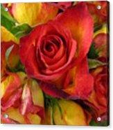 Among The Rose Leaves Acrylic Print