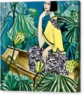 Among The Withered Lotus  Acrylic Print