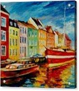 Amsterdam - City Dock Acrylic Print