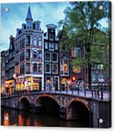 Amsterdam At Twilight Acrylic Print
