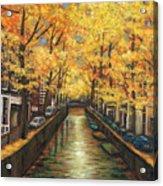 Amsterdam Autumn Acrylic Print by Johnathan Harris
