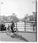 Amsterdam Bike Ride Acrylic Print