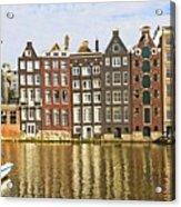 Amsterdam Canal Acrylic Print by Giancarlo Liguori
