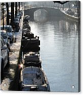 Amsterdam Canal In Winter Acrylic Print