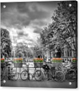 Amsterdam Gentlemens Canal Typical Cityscape Acrylic Print