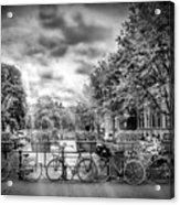 Amsterdam In Monochrome  Acrylic Print
