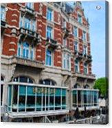 Amsterdam Holland Canal Hotel Restaurant Acrylic Print