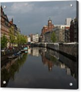 Amsterdam - Singel Canal With The Floating Flower Market Acrylic Print