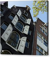 Amsterdam Spring - Arched Windows And Shutters - Right Acrylic Print