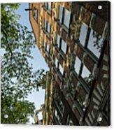 Amsterdam Spring - Fancy Brickwork Glow - Left Vertical Acrylic Print