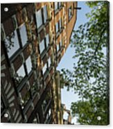 Amsterdam Spring - Fancy Brickwork Glow - Right Vertical Acrylic Print