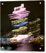 Amsterdam The Netherlands A'dam Tower Abstract At Night. Acrylic Print