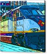 Amtrak Locomotive Study 2 Acrylic Print by Samuel Sheats
