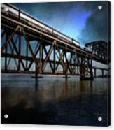 Amtrak Midnight Express 5d18829 Acrylic Print by Wingsdomain Art and Photography