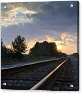 Amtrak Railroad System Acrylic Print by Carolyn Marshall