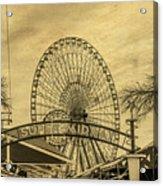 Amusement Park Vintage Acrylic Print