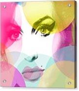 Amy Portrait Pink Yellow  Acrylic Print