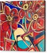 An Abstract Floral Acrylic Print