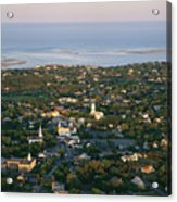 An Aerial View Of Chatham Acrylic Print by Michael Melford