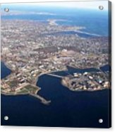An Aerial View Of Naval Station Newport Acrylic Print