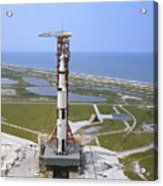 An Aerial View Of The Apollo 15 Acrylic Print