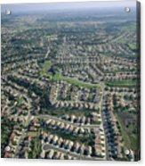 An Aerial View Of Urban Sprawl Acrylic Print
