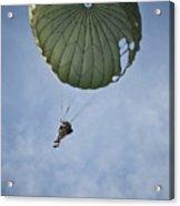 An Airman Descends Through The Sky Acrylic Print