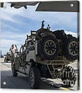 An All-terrain Vehicle Is Guided Onto Acrylic Print