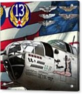 An American B-25c Pof Acrylic Print