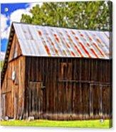An American Barn 2 Painted Acrylic Print