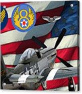 An American P-51d Pof Acrylic Print
