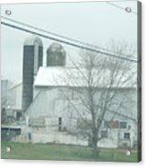 An Amish Barn In April Acrylic Print