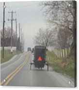 An Amish Buggy In April Acrylic Print