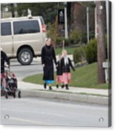 An Amish Family Going For A Walk Acrylic Print