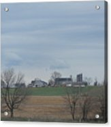 An Amish Field Ready For Planting Acrylic Print
