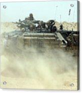 An Amphibious Assault Vehicle Kicks Acrylic Print