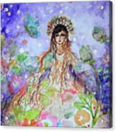 An Angel For All Of The Chakras And Her Name Is Simplicity Acrylic Print
