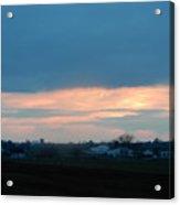 An April Sunset Over An Amish Farm Acrylic Print