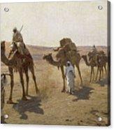 An Arab Caravan Acrylic Print