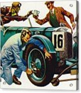 An Aston Martin Racing Car, Vintage 1932 Acrylic Print