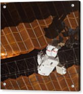 An Astronaut Anchored To A Foot Acrylic Print