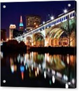 An Early Evening In Cleveland Acrylic Print