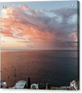 An Early Morning View From A Balcony In Positano, Campania, Ital Acrylic Print