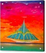 An Emerald Sail Acrylic Print
