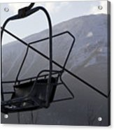 An Empty Chair Lift At A Ski Resort Acrylic Print by Tim Laman