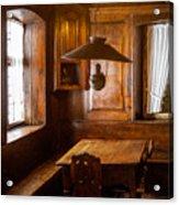 An Empty Table Acrylic Print