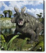 An Estemmenosuchus Mirabilis Stands Acrylic Print