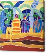 An Evening Near The Banana Plantation Acrylic Print