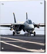 An F-14d Tomcat Makes An Arrested Acrylic Print